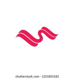 abstract curves ribbon logo vector