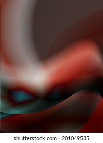 Abstract curvy background. Vector.