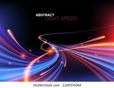 Abstract Curvy Light Speed