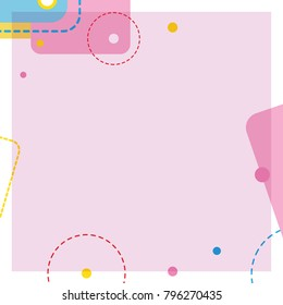 Abstract cute decorative frame design background with empty space vector