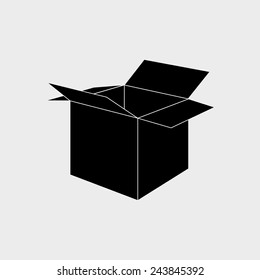 abstract cute delivery symbol on a white background