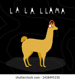 Abstract cute paper cut cllama pattern background. Childish crafted llama for design birthday card, veterinarian clinic poster, pet shop sale advertising, bag print etc.