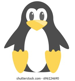 Abstract cute penguin vector in cartoon style isolated on white background. Funny image illustration.