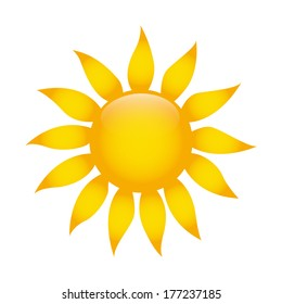 abstract cute sun on a white background