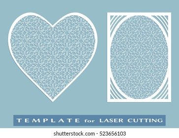 abstract cutout panel heart laser cutting stock vector royalty free