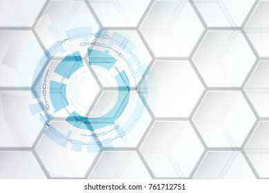 Abstract cyber security concept, vector technology concept, binary circuit board
