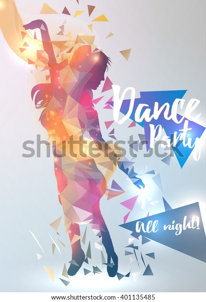 Abstract Dance Music Background Party Event Stock Vector