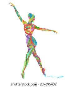 abstract dancer girl