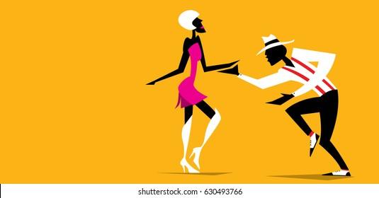 Abstract Dancers (Vector Art)