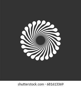 Abstract Dandelion Flower Circle Logo Template Illustration Design. Vector EPS 10.