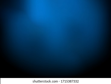 Abstract dark blue blurred background with smoke and space for your text. Nightclub space. Vector illustration