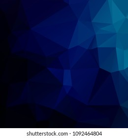 Abstract dark blue polygon texture background
