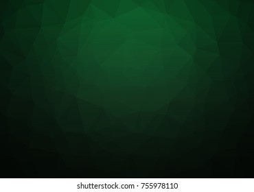 Abstract Dark Green Geometric Polygon Background. Vector EPS 10.