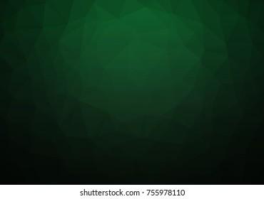 Abstract Dark Green Geometric Polygon Background. Vector EPS 10.