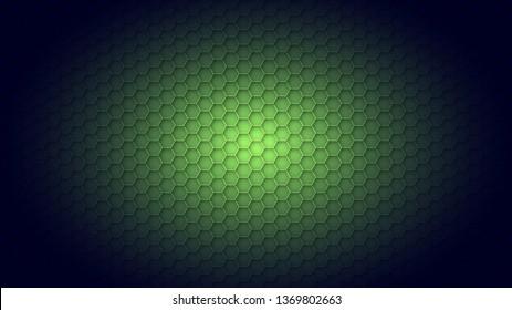 Abstract dark green texture background hexagon
