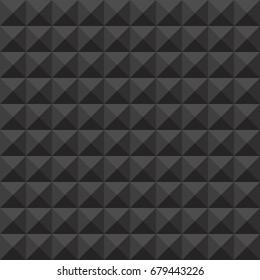 Abstract dark grey studded seamless pattern background. Vector illustration.