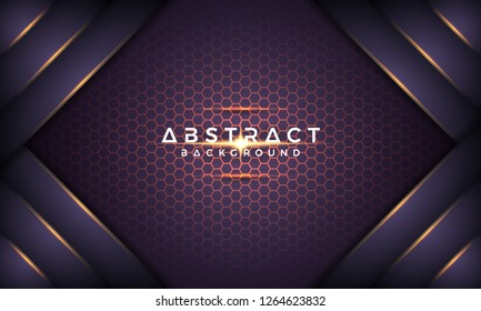 Abstract dark purple metallic 3D vector background. text can be replaced with your text. EPS10 Vector