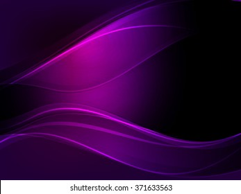 Abstract dark purple wave vector background.