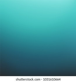 Abstract dark teal background. Blurred turquoise water backdrop. Vector illustration for your graphic design, banner, summer or aqua poster
