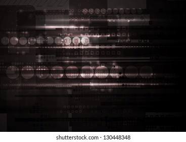 Abstract dark technical background. Vector design eps 10