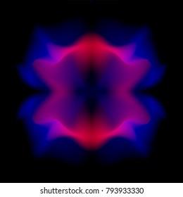 Abstract dark ultra violet magenta smooth fractal vector pattern