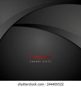 Abstract dark waves background. Vector design