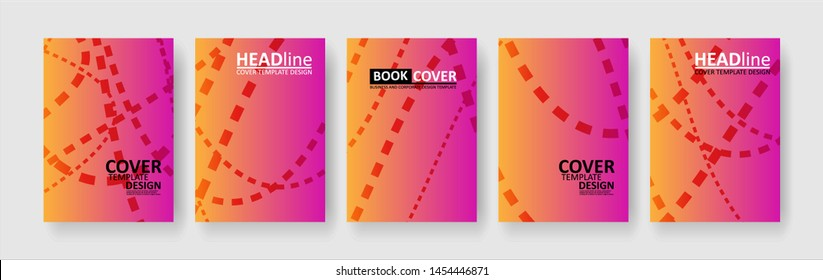 abstract dashed lines wave background with gradient color. Applicable for design cover, presentation, invitation, flyer, annual report, poster and business card, desing packaging - Vector