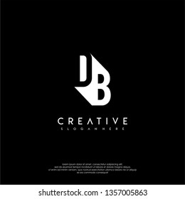 abstract DB logo letter in shadow shape design concept