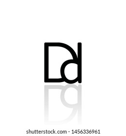 Abstract Dd connected Logo design illustration, Dd Letter Connected logo design - VECTOR