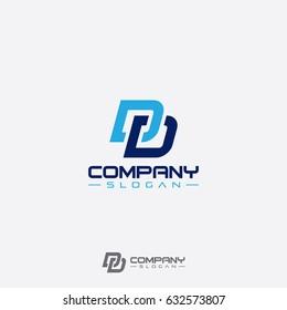 abstract DD logo designs initials