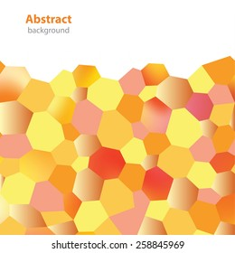 Abstract decorative background - different colors - geometric shapes - square format - Interior wallpaper - honeycomb pattern - stock vector