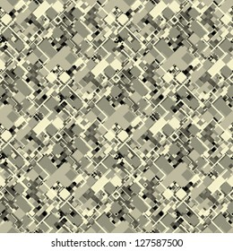 Abstract decorative city map geometric ornament. Seamless pattern. Vector.