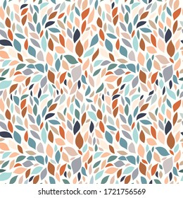 Abstract decorative seamless pattern, pastel colors