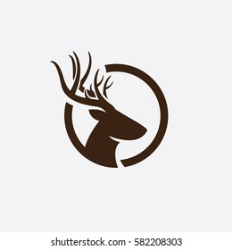 abstract deer head logo