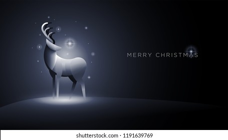 Abstract deer vector illustration. Elements are layered separately in vector file.