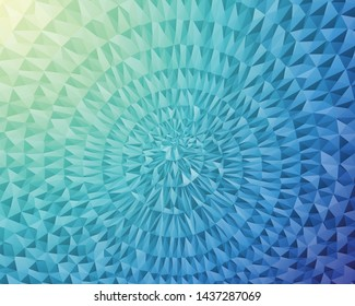 Abstract Delaunay Voronoi color diagram background illustration