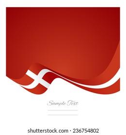 Abstract Denmark flag ribbon vector