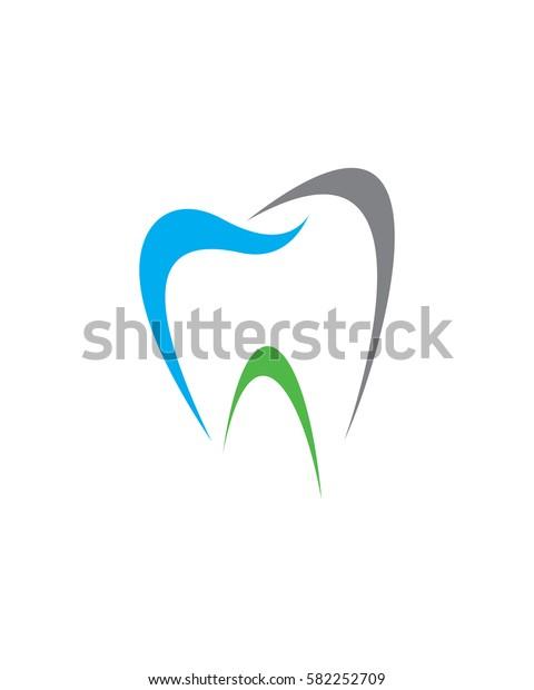 Abstract Dental Logo Teeth Logo Dentistry Stock Vector Royalty Free 582252709