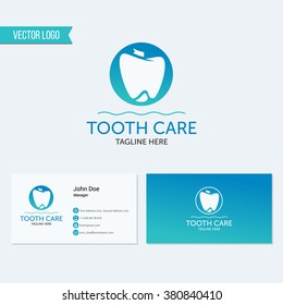 Abstract dental logo template. Dental, dentist office, tooth health, oral care, tooth care, oral care, clinic. Business card design. Logotype. Tooth vector logo icon. Business card template