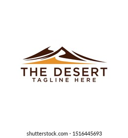 Abstract Desert Logo Template Vector