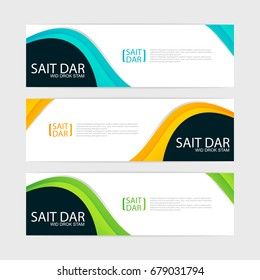 abstract design banner template.vector illustration