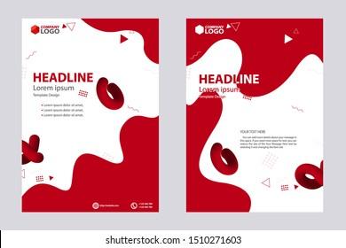 Abstract Design Bi-fold Brochure, Flyer, Poster, Vector Template Design