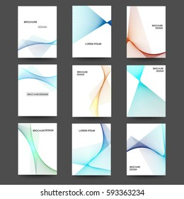Abstract design for brochures, cards. Set - vector stock.