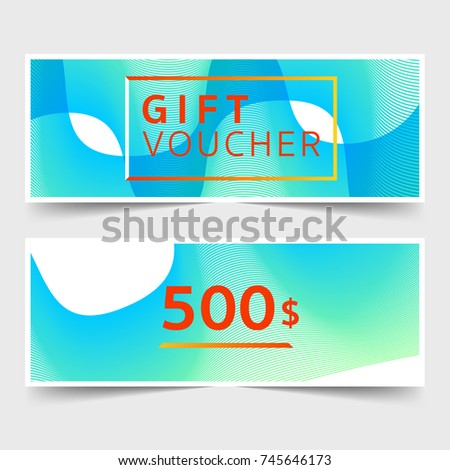 Abstract design business gift voucher background stock vector abstract design business gift voucher and background template with colorful cute coupon designvector illustrator maxwellsz