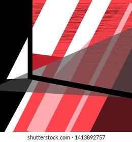 Abstract design color vector background with different geometric objects