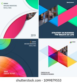 Abstract design of colourful vector elements for smooth background with round shapes for business branding summer.