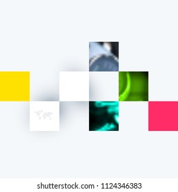 Abstract design of colourful vector elements for modern background with rectangular shapes for business branding finance.