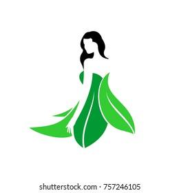 Abstract design concept for beauty salon, massage, magazine, cosmetic and spa. Premium vector icon.