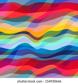 Abstract Design Creativity Background of Colorful Waves, Vector Illustration EPS10