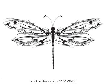 Abstract design dragonfly